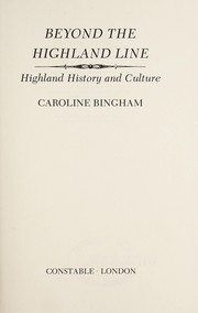 Cover of: Beyond the Highland line