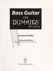Cover of: Bass guitar for dummies | Patrick Pfeiffer