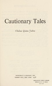 Cover of: Cautionary tales: science fiction by Chelsea Quinn Yarbro.
