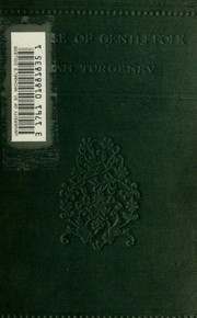 Cover of: A house of gentlefolk | Ivan Sergeevich Turgenev