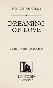 Cover of: Dreaming of love | Fay Cunningham