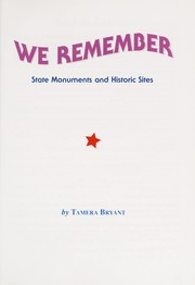 Cover of: We remember | Tamera Bryant