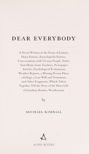 Cover of: Dear everybody