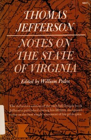 Notes on the state of Virginia by Thomas Jefferson