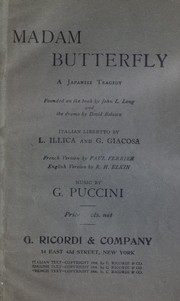 Cover of: Madama Butterfly