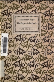 Cover of: The Rape of the Lock: and other poems of Alexander Pope