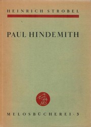 Cover of: Paul Hindemith