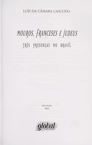 Cover of: Mouros, franceses e judeus