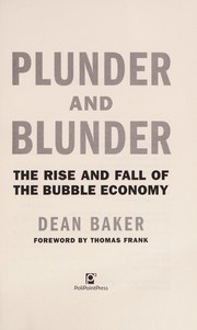 Cover of: Plunder and blunder