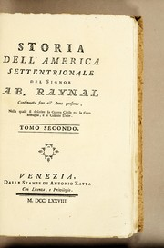 Cover of: Storia dell'America Settentrionale