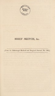 Cover of: Brief sketch of the fever which prevailed at Gibraltar in the autumn of 1828