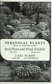 Cover of: Perennial plants from all over the world, rock plants and floral novelties
