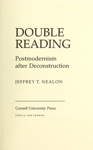 Double reading by Jeffrey T. Nealon