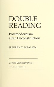 Cover of: Double reading | Jeffrey T. Nealon