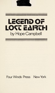Cover of: The Legend of lost earth