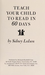 Cover of: Teach your child to read in 60 days