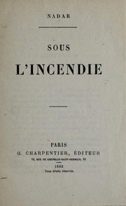 Cover of: Sous l'incendie
