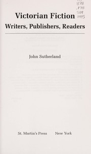 Cover of: Victorian fiction | Sutherland, John