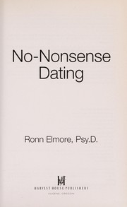 Cover of: No-nonsense dating