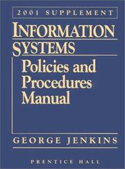 Cover of: Information Systems: Policies and Procedures Manual