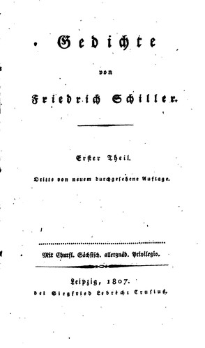 Gedichte 1807 Edition Open Library