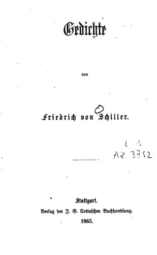 Gedichte 1865 Edition Open Library