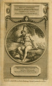 Cover of: Milton's Poems