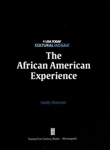 The African American experience by Sandra Donovan