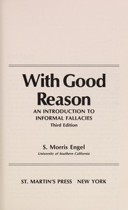 Cover of: With good reason | S. Morris Engel