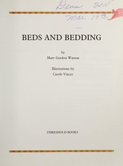 Cover of: Beds and Bedding (Threshold Picture Guides)