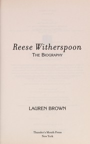 Cover of: Reese Witherspoon | Lauren Brown
