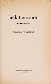 Cover of: Jack Lemmon. | Michael Freedland