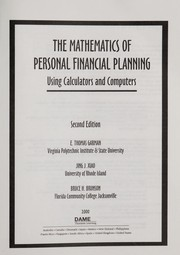 Cover of: Mathematics of Personal Finance Using Calculators and Computers