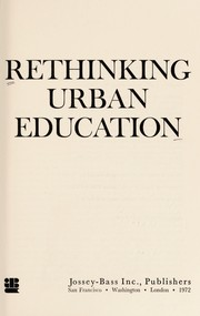 Cover of: Rethinking urban education