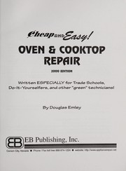 Cover of: Oven and cooktop repair