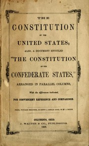 The Constitution of the United States by United States