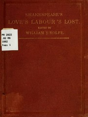 Cover of: Love's Labour's lost