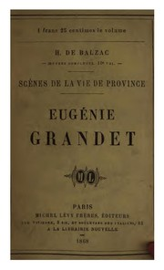 Cover of: Eugénie Grandet
