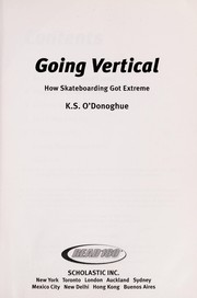 Cover of: Going Vertical | K. S. O