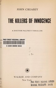 Cover of: The killers of innocence | John Creasey