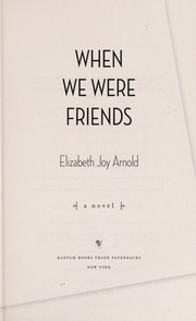 Cover of: When we were friends