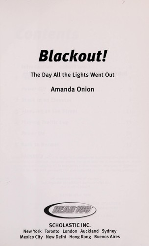Blackout! the Day the Lights Went Out by Amanda Onion