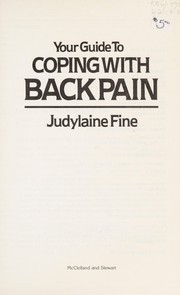 Cover of: Your Guide to Coping with Back Pain