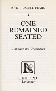 Cover of: One remained seated