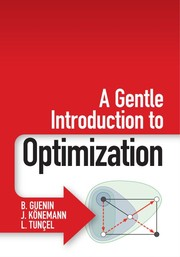 Cover of: A Gentle Introduction to Optimization |