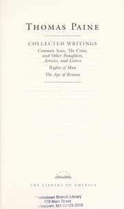 Cover of: Collected writings | Thomas Paine