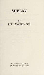 Cover of: Shelby | Pete McCormack