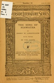 Cover of: The song of Hiawatha | Henry Wadsworth Longfellow