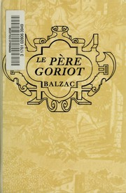Cover of: Le père Goriot