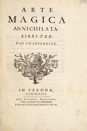 Cover of: Arte magica annichilata